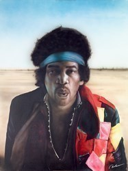 Hendrix by Paul Karslake -  sized 30x40 inches. Available from Whitewall Galleries